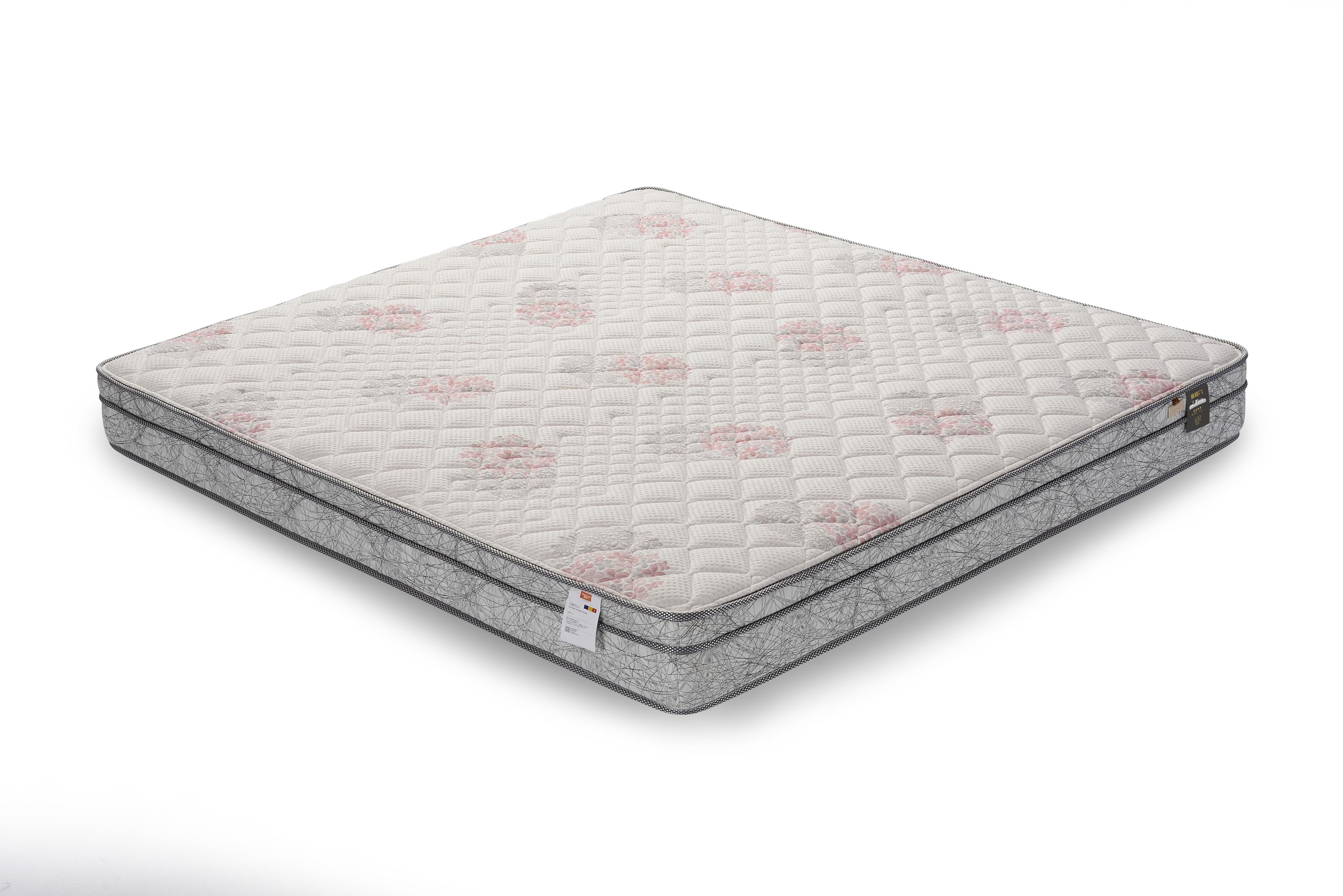 乐眠弹簧海绵床垫黄麻纳米竹炭净化除螨软硬双面床垫5122